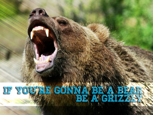 If Your Going to Be a Grizzly Bear Be A