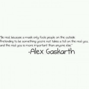 Great quotefrom alex gaskarth