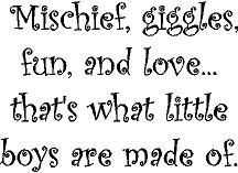 cute MISCHIEF, GIGGLES, FUN, AND LOVE . . . THAT'S WHAT LITTLE BOYS ...