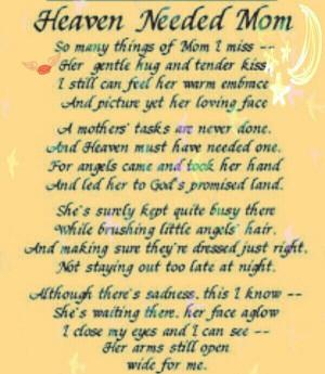 Mom Birthday Heaven Quotes