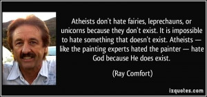 Atheists Don't Hate Fairies Leprechauns, Or Unicorns Because They ...