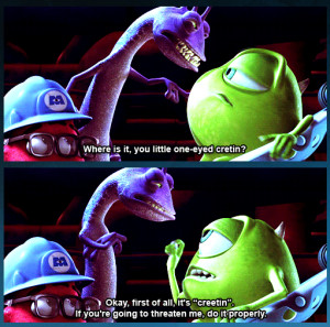 Monsters Inc Quotes Labels: monsters inc. (2001)