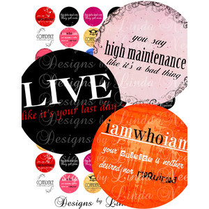 SASSY Quotes (2 Inch round) Images Buy 2 Get 1 SALE - Digital Collage ...
