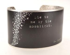 Scott Fitzgerald Quote Silver Plated Cuff Bracelet, Literary ...