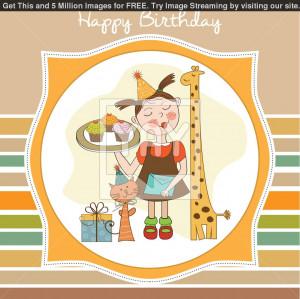 Happy Birthday Animals Happy birthday card with funny