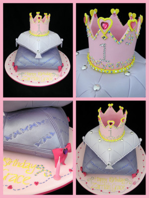 Princess Crown 1st Birthday Cakes