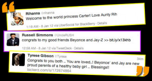 Aunty Rihanna And Others Welcomes Beyonce Baby!