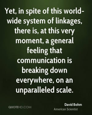 David Bohm Quotes