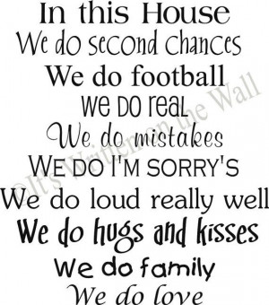 Personalize this wall quote with 9 sentences about your family. Choose ...