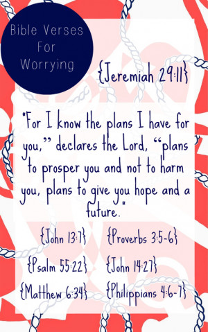 Here are some verses that you can refer to on worrying. These verses ...