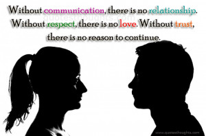 Relationship Quotes – Without Communication
