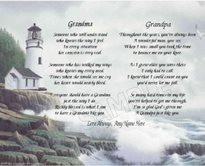 GRANDMA GRANDPA PERSONALIZED POEM MEMORY BIRTHDAY MOTHER'S DAY FATHER ...