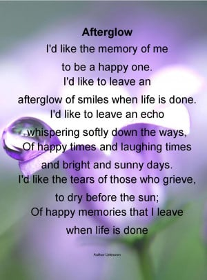 afterfglow funeral poem life funeral poems life is but a