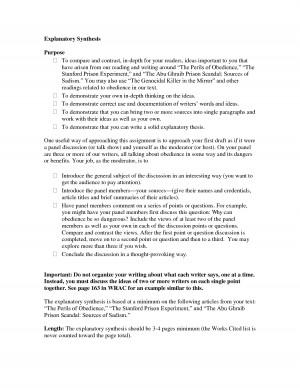 Exploratory essay example