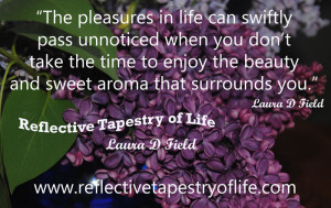 The pleasures in life can swiftly pass unnoticed when you don't take ...