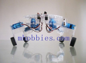 QuaBot quadruped robot chassis with motor