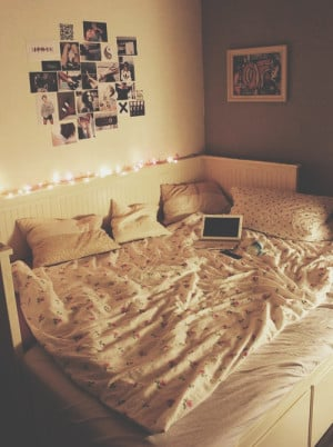 beautiful, bedroom, grunge, hipster, indie, lights, room, sy