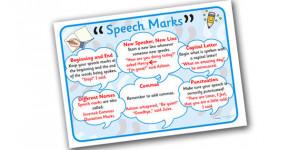 Speech Marks Poster Mat - speech marks, speech marks poster, how to ...