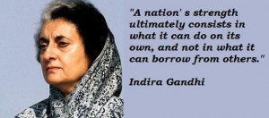 Indira gandhi famous quotes 3