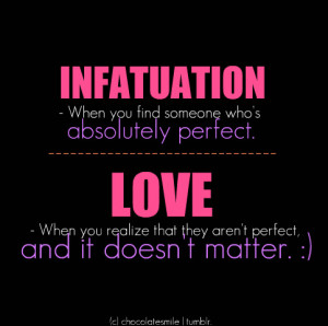 Infatuation turns into Love