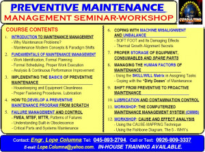 Preventive Maintenance Schedule Template
