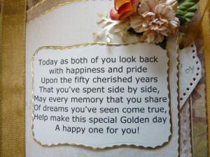 golden wedding anniversary poems