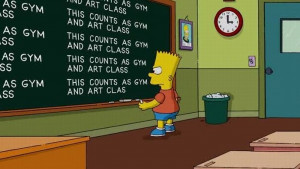 Bart Simpson at the blackboard pics55 Funny: Bart Simpson at the ...