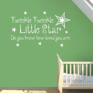 Twinkle Little Star Wall Quote Sticker Art Decals Vinyl Decal Decor ...