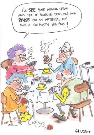 Active Seniors Cartoon Cad