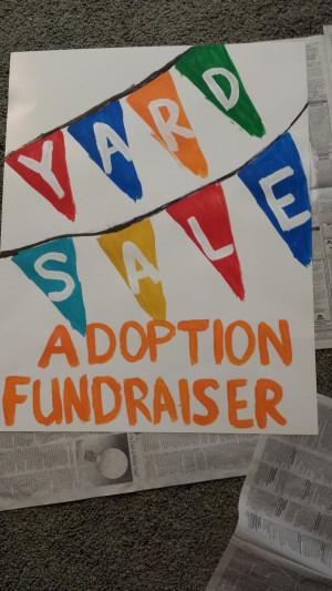 Adoption Fundraising Yard Sale