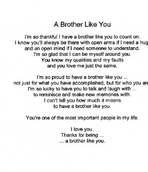 Brother Poem