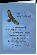 Eagle Scout Congratulations Soar Highest Heights Card Product
