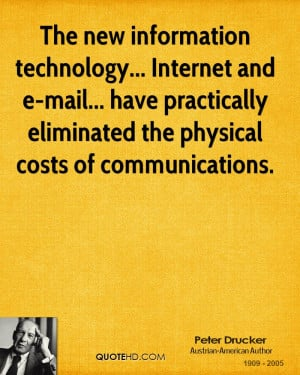 Technology Quotes Drucker technology quotes
