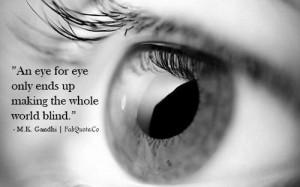 Gandhi eye for eye quote