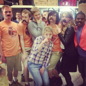 Studio C. They all wish they had a mustache. Except Jeremy. He REALLY ...