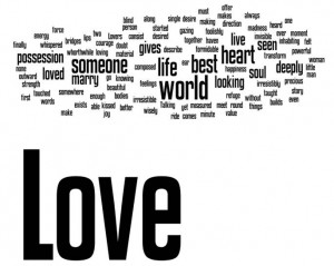 words of love was made using a few famous romantic love quotes ...