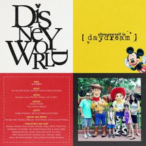 disney world scrapbook page ideas