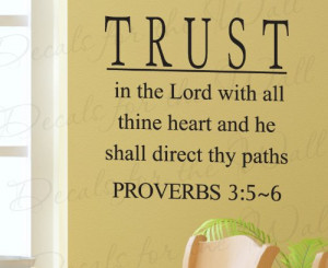 Heart Proverbs 3 - Inspirational Home Living Room Religious God Bible ...