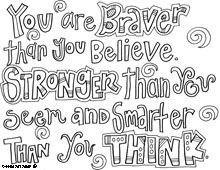 Winnie the Pooh free printable coloring pages, different quotes, or ...