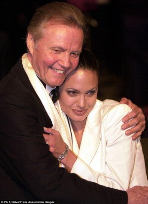 Father-daughter time! Actor Jon Voight with Angelina at the Vanity ...
