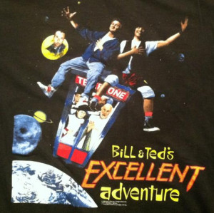 Vintage Bill And Ted's Excellent Adventure movie t-shirt
