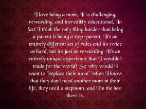 Stepmom's who treat them like their own