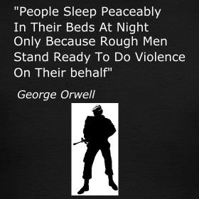 Design ~ George Orwell Quote Black