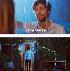 Romantic apology - haha this guy deserves a medal jajajaja