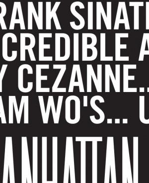 Details about MANHATTAN Movie Quote Poster - Woody Allen Diane Keaton ...