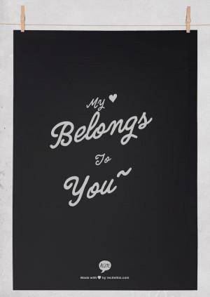 My ♥ belongs to you~