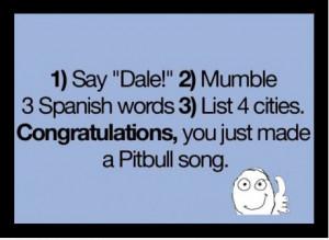 Make a Pitbull song