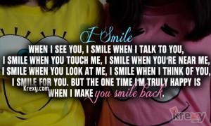When You Smile I Smile More