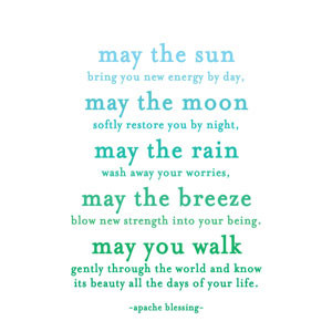 """... / """"May the Sun…"""" – Apache Blessing Quotable Magnet MD137"""