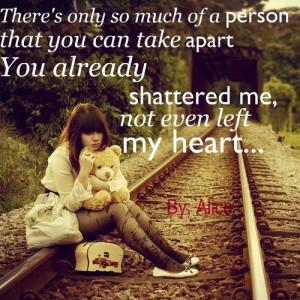 ... broken, girl, heart, lyrics, photo, photograph, photography, quote, qu